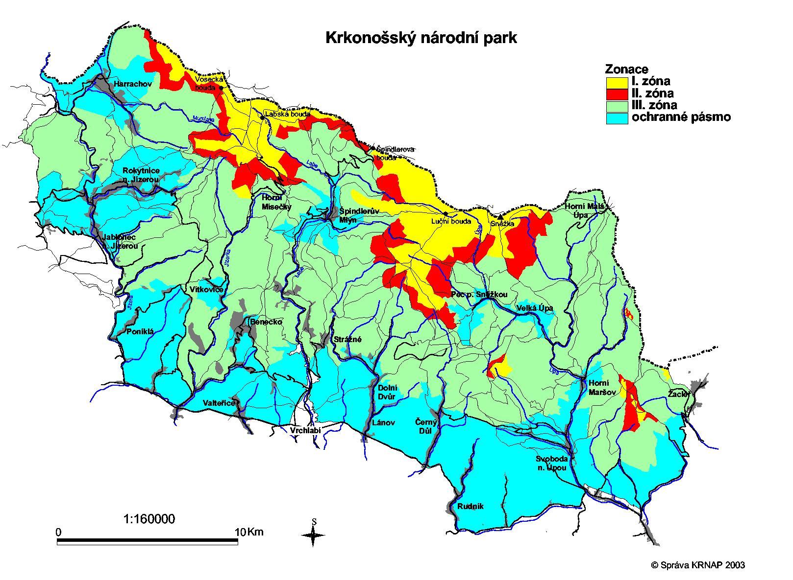 mapa krkonoš